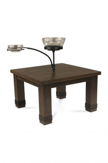 Sadie End Table with Orbital Bowl