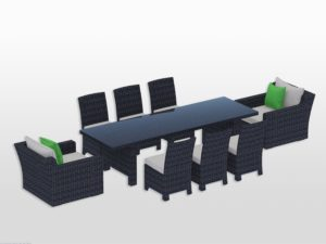 """Maui Dining Set with 108"""" table"""