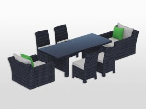 "Maui Dining Set with 85"" Table"